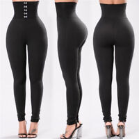 Mode Femmes Haute Taille Sports Gym Yoga Pantalons Running Fitness Legging FE