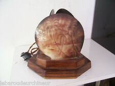 lampe 1920-1940 Tahiti avec coquillages gravés