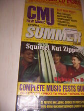 CMJ NEW MUSIC SPECIAL SUMMER SQUIRREL NUT ZIPPERS  - COMPACT DISC INSIDE