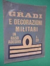 Bustina Figurine Stickers Gradi e decorazioni militari Packet Tüten Pochette SD
