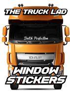 DUTCH PERFECTION WINDOW VINYL STICKER X1 DAF TRUCK XF CF LF TRUCK LORRY HAULAGE