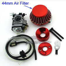 Carb Carburetor Air Filter Stack For 33 43 49 cc Gas Scooter Skateboard Wheelman