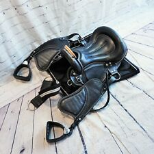 Equestrian Stockholm Dressage Saddle Pad w/ Unbranded Black Saddle -BBR1968