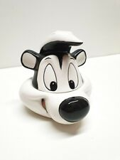 More details for pepe le pew warner bros studio store french skunk ceramic dish with lid 1997