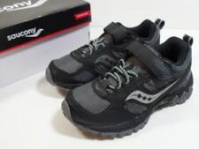 SAUCONY Excursion Shield Black/Gray Leather Mesh Water Resistant Shoes, Sz 11.5M
