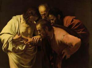Michelangelo Caravaggio The Incredulity of Saint Thomas Giclee Canvas Print