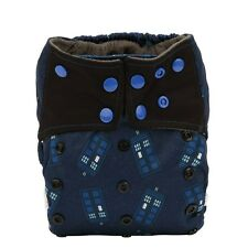 ALL IN ONE Cloth Diaper AIO Nappy Sewn Charcoal Insert Police Box Reusable Night