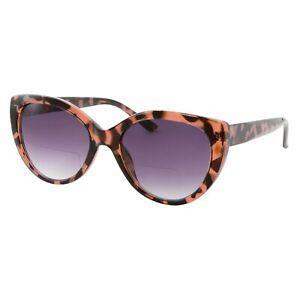 Bifocal Women Big Cat Eye Reader Glasses Vintage Reading Sunglasses Cute Outdoor