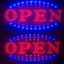Visible*Led Light Flash Motion Business Open Sign Chain Switch 25x48 for Indoor
