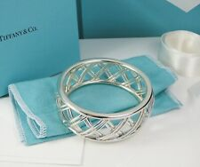 NEW Tiffany & Co. Paloma Picasso Trellis Bangle Sterling Silver- Retired Size M
