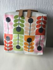 Orla Kiely Make Up Cosmetic Bag Medium Size 8x8 Inch Iconic Print Retro Vintage