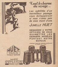 Z8526 Jumelle HUET - Paris - Pubblicità d'epoca - 1931 Old advertising