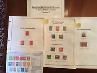 US Stamp Year Sets 1930 to 1934 Complete Five Sets. See Below Description.