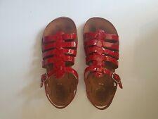 Gorgeous POM D'API 'plagette strap' red patent sandals, size 33