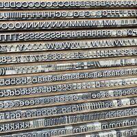 7,5 mm HELVETICA breitmager Bleisatz Buchstabe Letterpress Bleischrift Handsatz