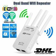 5Ghz WLAN Repeater Router 1200 Mbit/s WI-FI Signal Verstärker Extender 4 Antenne