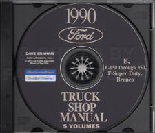 1990 Ford Truck Shop Manual 5 Book Set on CD F150 F250 F350 Bronco Van Service