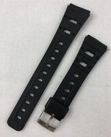 K-38 20mm Kreisler Sport Strap Black Rubber Vintage Watch Band NOS Casio Others