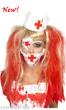 Bloody Nurse Kit Ladies Halloween Scary Doctor Nurse Zombie Horror Fancy Dress
