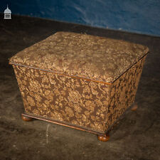 More details for victorian upholstered pouffe