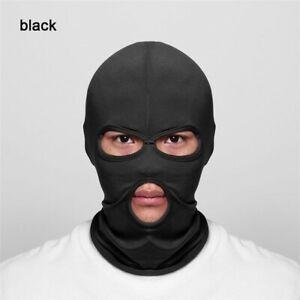Lycra Balaclava 3 HOLE Full Face Mask Windproof Men Women Ski Neck  - Black