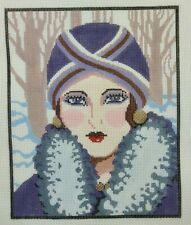 Vogue Girl Lee Hand Painted Needlepoint Canvas