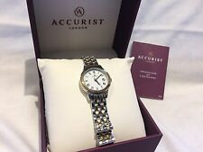 Ladies Accurist 8045 Two tone plated  dress watch RRP £79.99