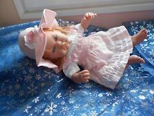robe et capeline neuve compatible avec poupée antonio juan, baby annabell, 45cm