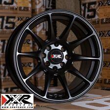 """Xxr 527 15"""" X 8J ET20 4x100 4x108 Negro Plano Juego De 4 ruedas"""