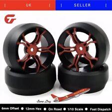 4pcs/set Flat Drift Tyres Wheel Rubber Tyre Rim For HPI 1:10 On-Road Car 12mm He