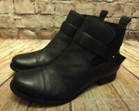 Womens Clarks Ladbroke Magic Black Leather Pull On Ankle Boots UK 6.5 D EUR 40
