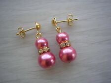 57w Pearl Earrings Drop Dangle Silver Gold Diamantes & Studs Bridesmaid Wedding