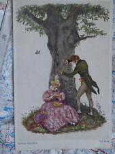 Für Ewig Liebe Baum Paar Schnitzen Gemälde Kunst Postkarte Ansichtskarte 3435