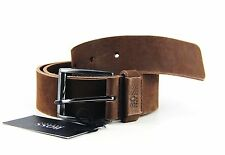HUGO BOSS BLACK LABEL SAVOL BROWN 100% LEATHER SUEDE BELT SIZE 34 NEW # 49