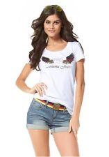 """Shirt """"Pailletten-Flügel"""" von Arizona Gr.36/38 NEU"""