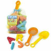 Alphabet Sand & Water Set Sandpit Letter Moulds & Spades Beach Bath Toys 7921