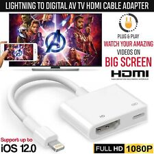 1080P Lightning to Digital AV TV HDMI Cable Adapter For i-Pad Air Aple i-Phone X