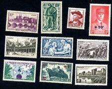 Lot z848 10 timbres de 1941