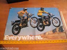 """1974 Honda Motorcycles jumping mag fold-out poster 14x21"""""""