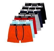 4 6 12 Knocker Men's Stretch bright Color Cotton Spandex Boxer Briefs S-xl New