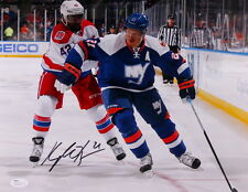 "KYLE OKPOSO BUFFALO SABRES SIGNED 11""x14"" JSA COA PHOTO NY ISLANDERS vs CAPITALS"