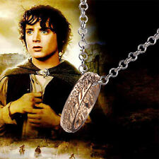 """Usa -Hobbit """"The One"""" -Silver Ring Pendant Necklace """"Lord of the Rings"""" for Men"""