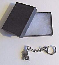 F) KEY-RING PEWTER LEWIS CHESS KNIGHT PIECE 12TH CENTURY WALRUS TUSK SCOTLAND