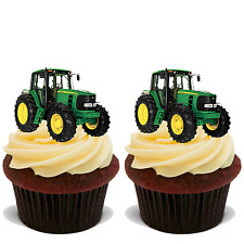 35x TRACTOR Premium Edible Stand Up Rice Wafer Cup Cake Toppers FARM FARMER D1