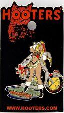 GWINNETT - DULUTH, GA HOOTERS HOT/FIRE FIREFIGHTER GIRL MOTORCYCLE LAPEL PIN