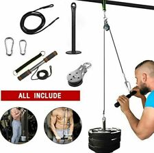 US DIY Fitness Pulley Cable Gym Workout Equipment Machine Attachment System Home
