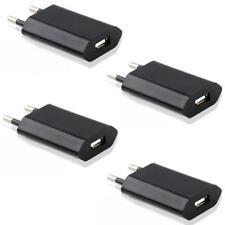 4x USB Netzteil Ladegerät Adapter Netzstecker Haus Stecker HTC Wiko LG Schwarz