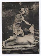 PHOTO PRESSE ANCIENNE Mithra taureau Sculpteur Grec Critone Sculpture Rome