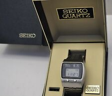 Vintage 1975 First Seiko's Quartz Chronograph LCD Watch Seiko #0634-5019 in Box