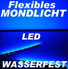 2 x 30cm flexible 24 Fach LED Lichtleiste mit Netzteil 60cm gesamt BLAU